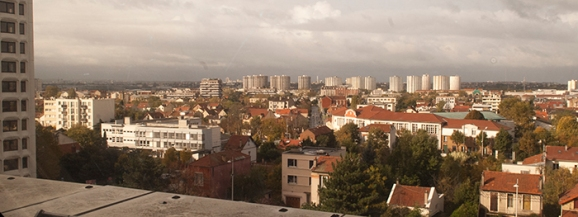Vue de Nanterre depuis la Mairie de Nanterre