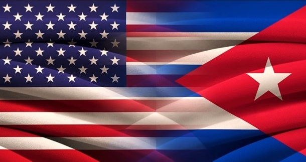 USA and Cuba. Relations between two countries. Conceptual image.
